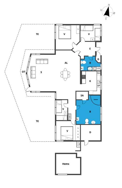 Innredning 1-23 Feirehus 8519, Nobilisvej 13, DK - 8500 Grenaa
