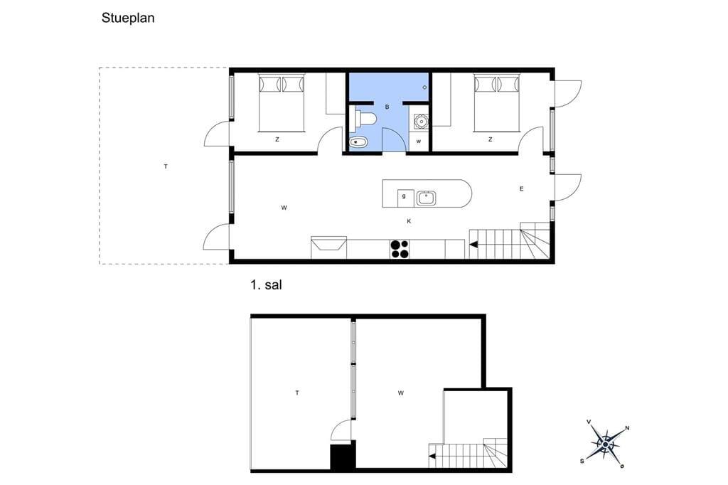 Indretning 1-11 Sommerhus 1285, Gulirisvej 285, DK - 6792 Rømø
