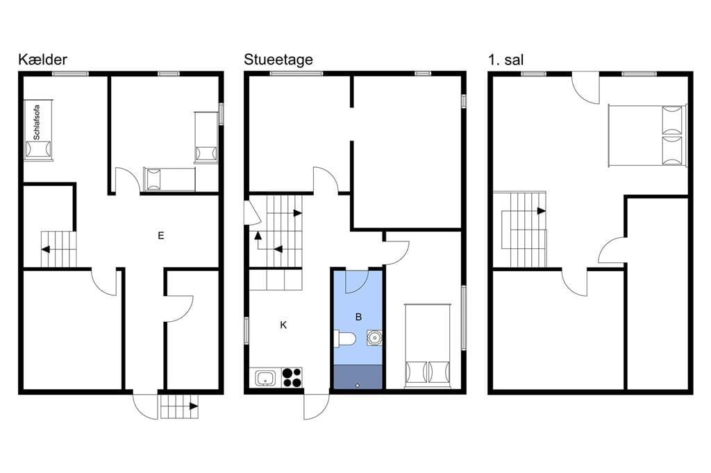 Indretning 1-3 Sommerhus M70110, Enighedsstræde 1, DK - 5960 Marstal