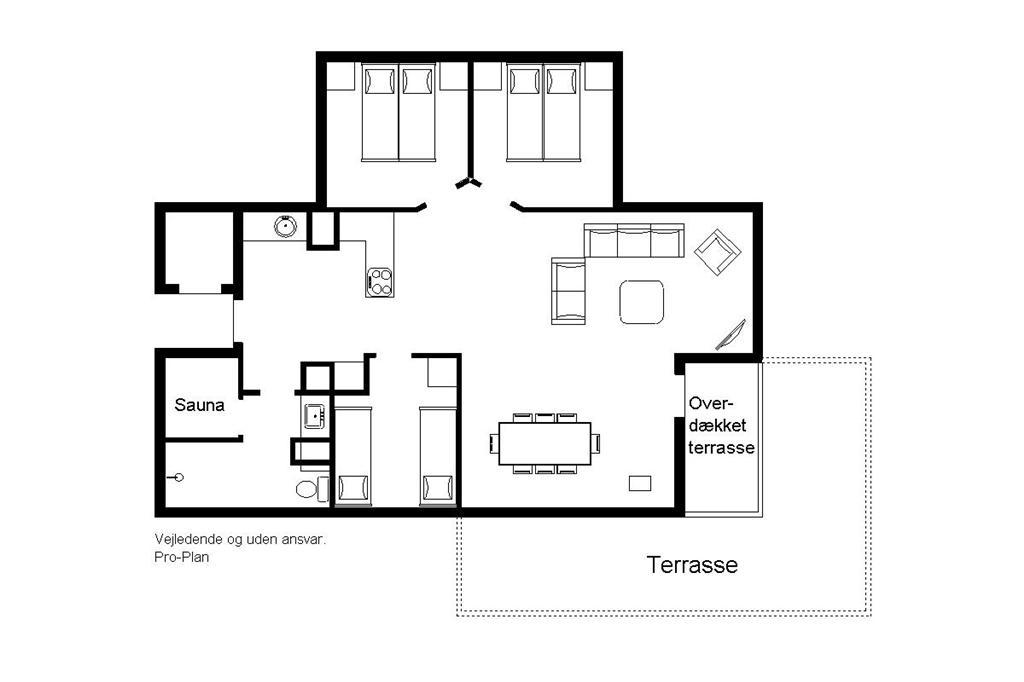 Indretning 1-22 Sommerhus C11301, Stikkelsbærvej 33, DK - 6880 Tarm