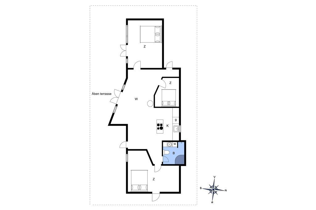 Indretning 1-23 Sommerhus 8461, Kystvejen 25, DK - 8400 Ebeltoft