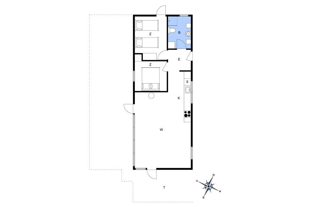 Indretning 1-401 Sommerhus HA205, Svingelen 6, DK - 9370 Hals