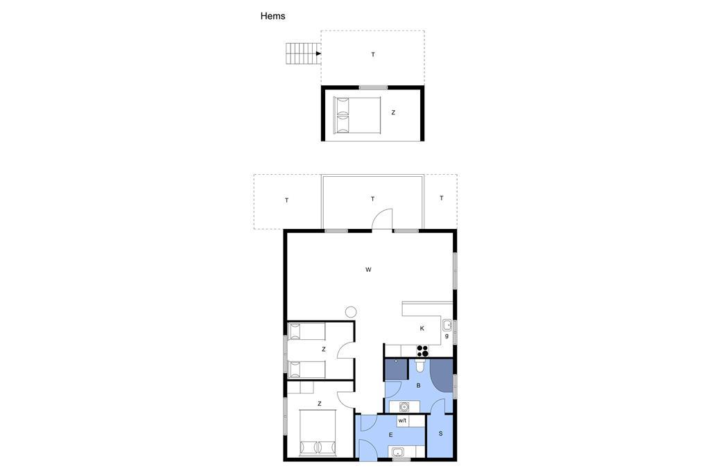 Indretning 1-23 Sommerhus 8412, Pukkelvej 47, DK - 8400 Ebeltoft