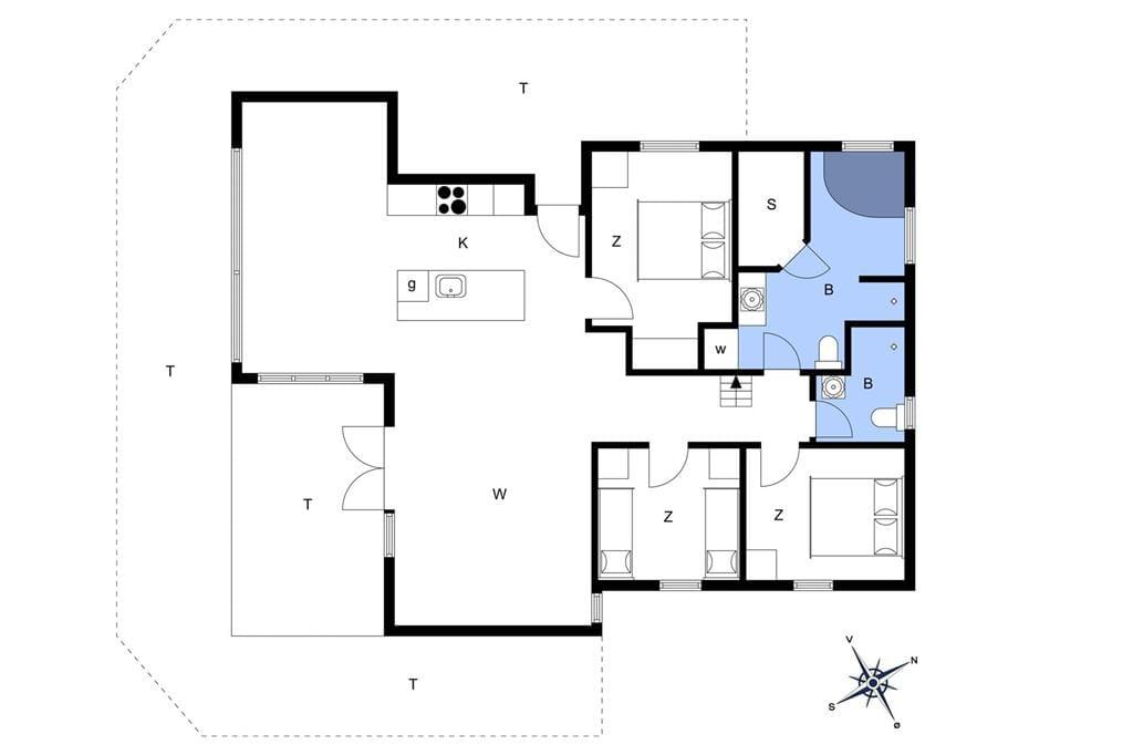 Indretning 1-172 Sommerhus JB107, Kronvildtvej 150, DK - 9460 Brovst