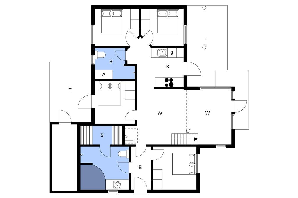 Indretning 1-3 Sommerhus M65908, Mosegården 39, DK - 5600 Faaborg