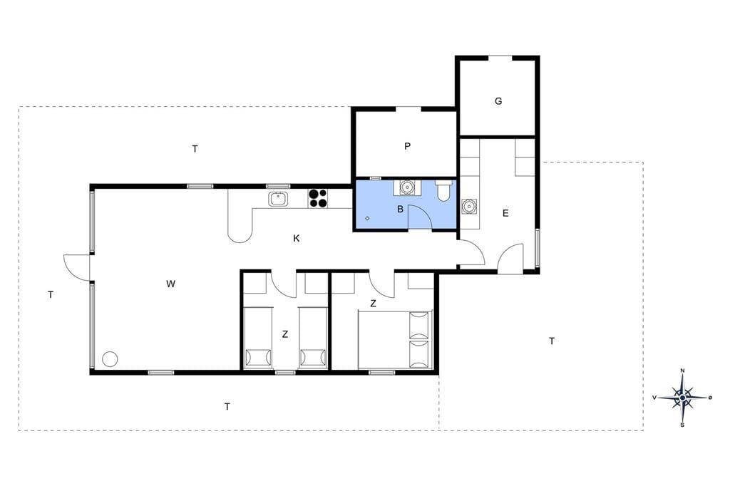 Indretning 1-20 Sommerhus 311, Lille Flyvholmvej 10, DK - 7673 Harboøre