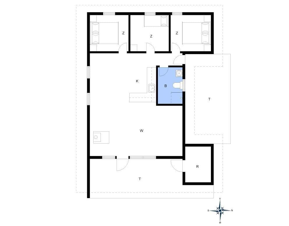 Innenausstattung 1-4 Ferienhaus 185, Esebjergvej 72, DK - 6950 Ringkøbing