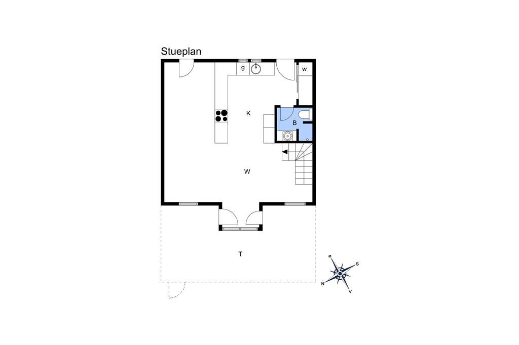Indretning 1-19 Sommerhus 40102, Strandengen 1, DK - 7130 Juelsminde