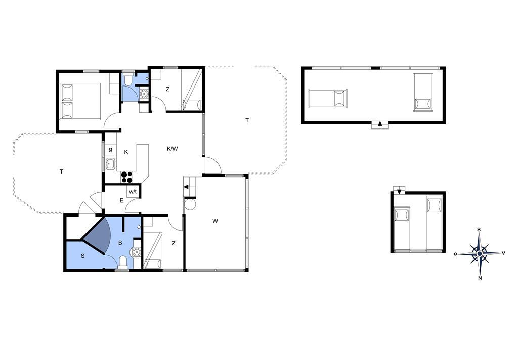 Innenausstattung 1-14 Ferienhaus 130, Bloksbjerg 95, DK - 9492 Blokhus