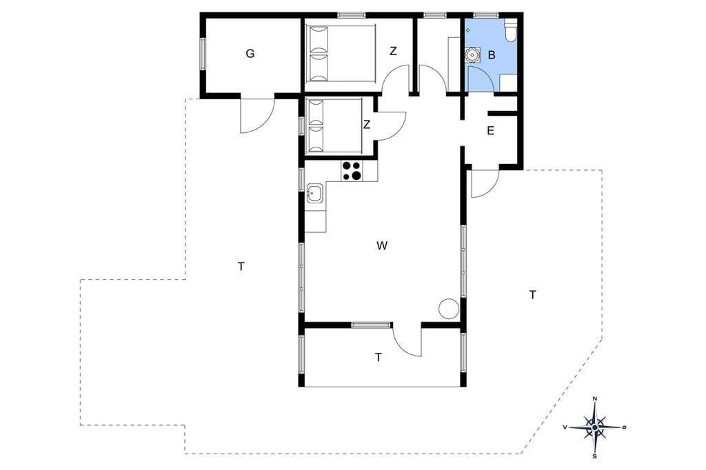 Indretning 1-178 Sommerhus LN1779, Januarvej 11, DK - 9800 Hjørring