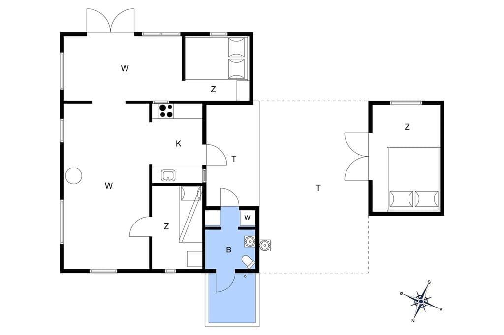 Indretning 1-17 Sommerhus 11119, Østerled 4, DK - 4500 Nykøbing Sj