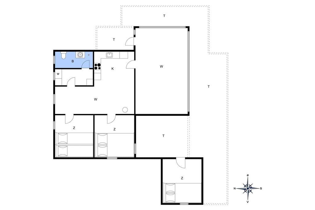 Indretning 1-13 Sommerhus 422, Nordsøvej 22, DK - 7700 Thisted