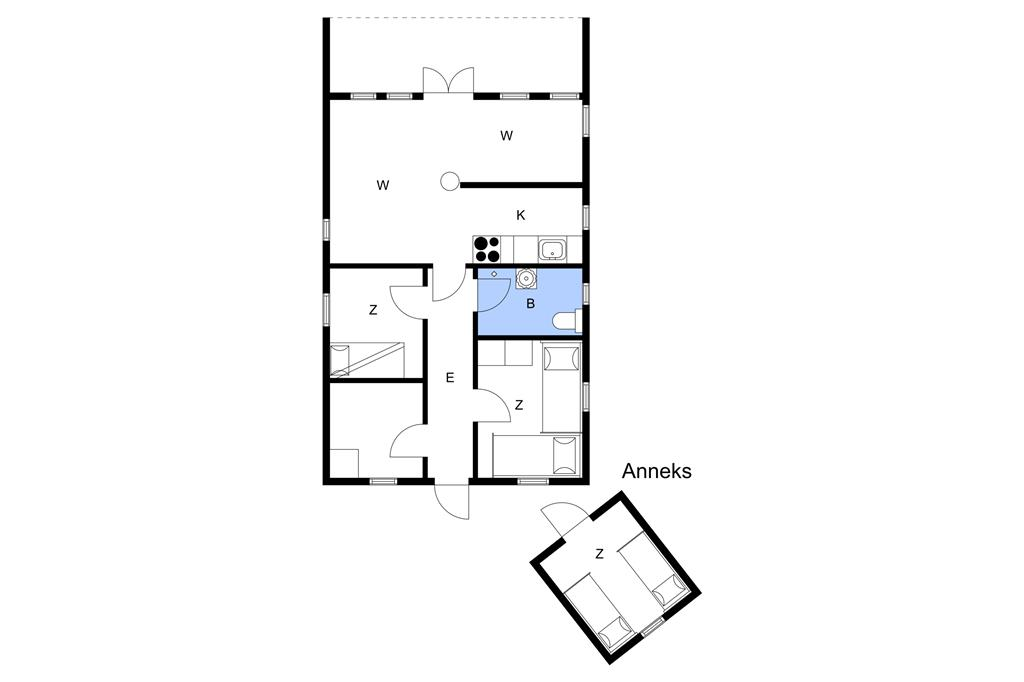 Indretning 1-3 Sommerhus M64138, Skåstrup Strand Øst 21, DK - 5400 Bogense