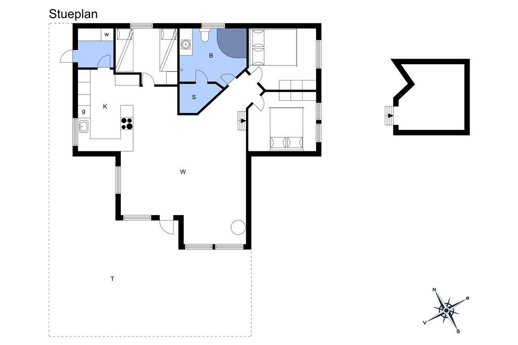 Indretning 1-3 Sommerhus M65080, Østerbakken 3, DK - 5610 Assens