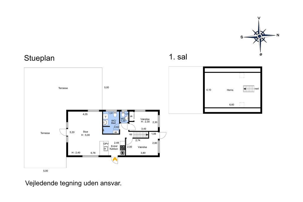 Indretning 1-174 Sommerhus M16003, Savavej 6, DK - 4873 Væggerløse