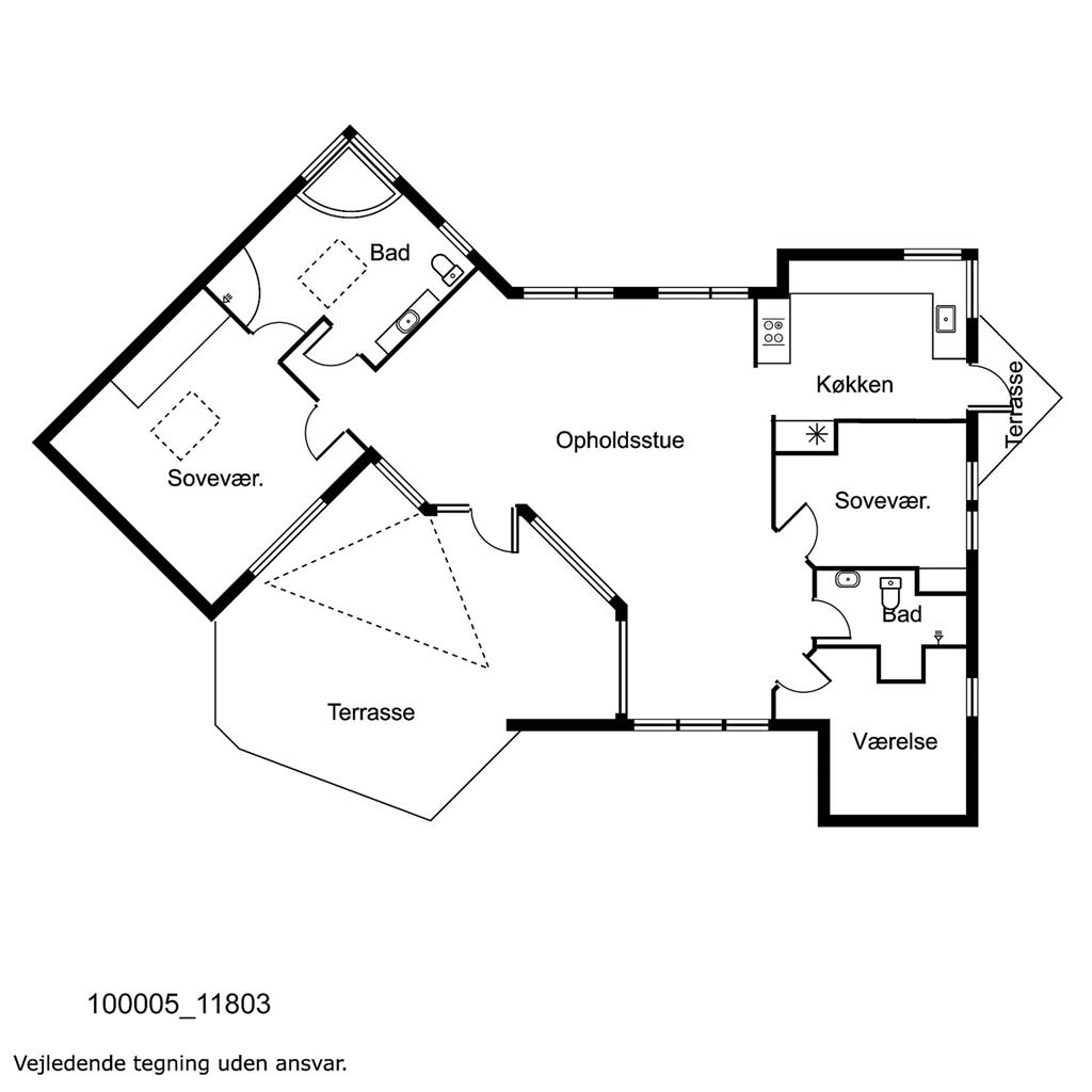 Innredning 1-17 Feirehus 11803, Klintehuse 14, DK - 4500 Nykøbing Sj
