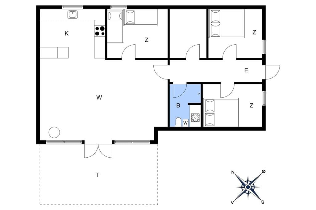 Indretning 1-22 Sommerhus C11024, Mosevænget 8, DK - 6893 Hemmet