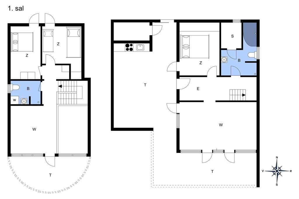 Indretning 1-11 Sommerhus 0343, Vestergade 329, DK - 6792 Rømø