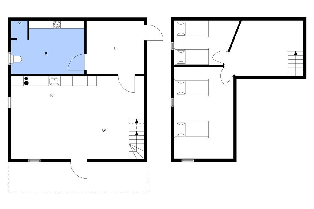 Indretning 1-3 Sommerhus L15007, Stavildvej 26, DK - 8832 Skals