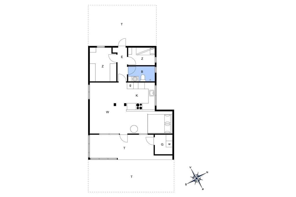 Indretning 1-19 Sommerhus 40535, Pøt Strandby 27, DK - 7130 Juelsminde