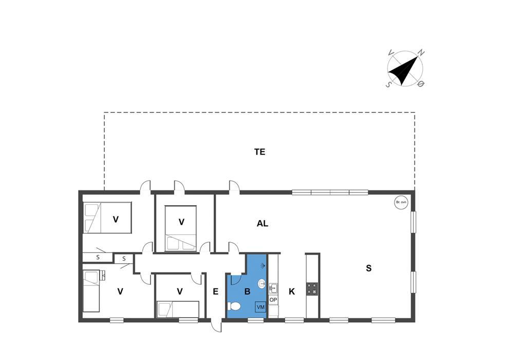 Indretning 1-23 Sommerhus 8803, Østtoften 2, DK - 8585 Glesborg