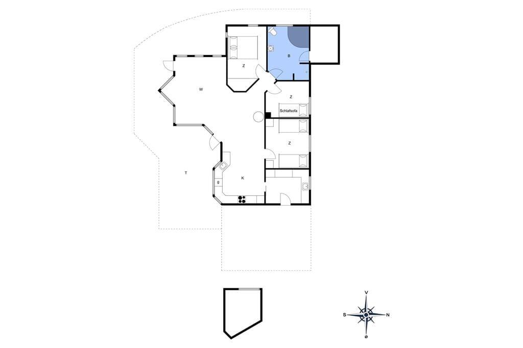 Indretning 1-6 Sommerhus N186, Skovsangervej 9, DK - 4736 Karrebæksminde