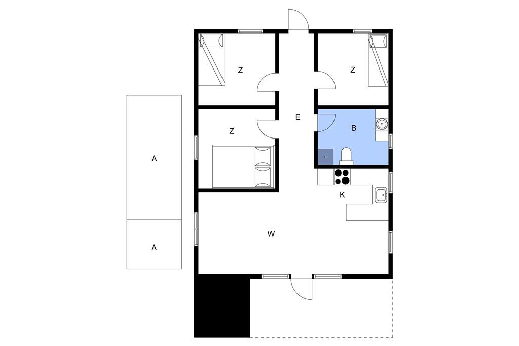 Innenausstattung 1-3 Ferienhaus F50305, Binderup Strandpark 34, DK - 6091 Bjert