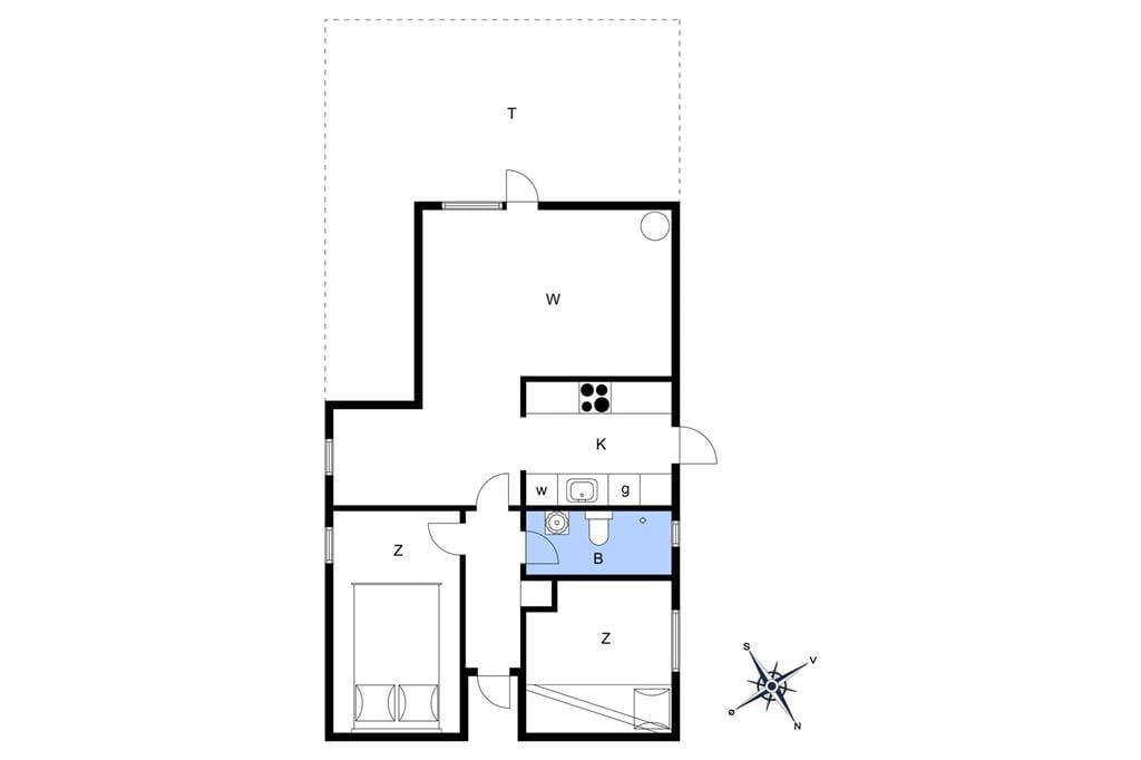 Indretning 1-1336 Sommerhus 1099-N, Brudsbakke 20, DK - 3210 Vejby