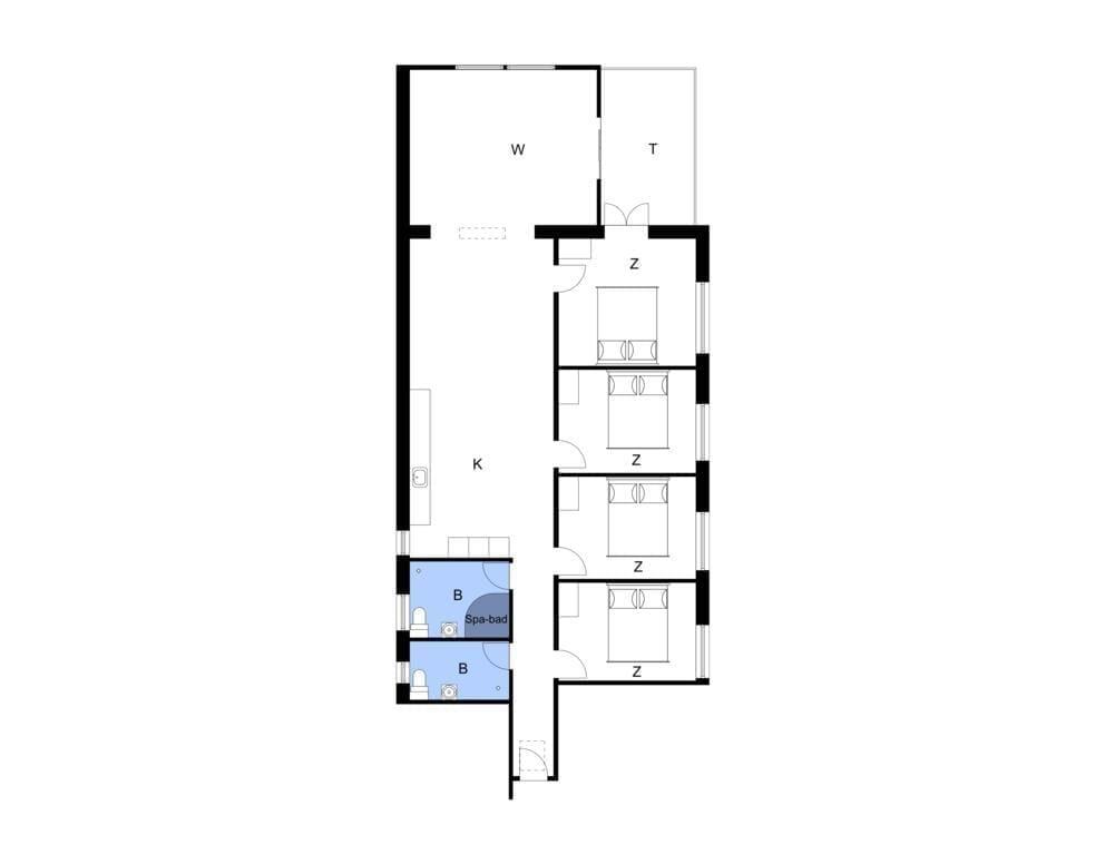 Indretning 1-4 Sommerhus 804, Havnegade 2, DK - 6960 Hvide Sande