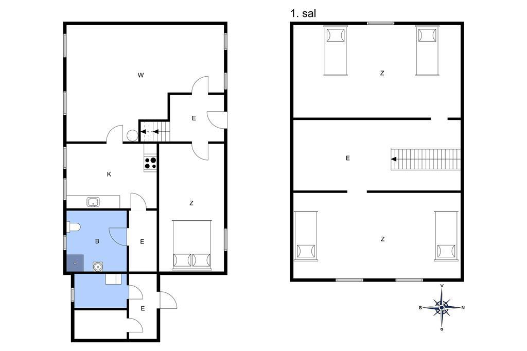 Indretning 1-3 Sommerhus M673663, Snøde Bygade 7, DK - 5953 Tranekær