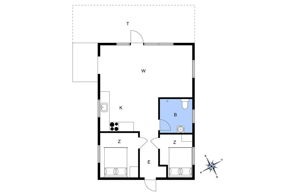 Interieur 1-22 Vakantiehuis C11085, Bork Hytteby 209, DK - 6893 Hemmet