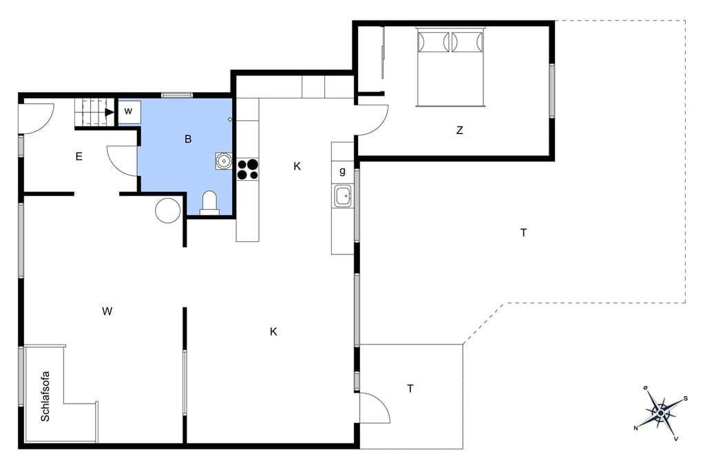 Indretning 1-3 Sommerhus M70125, Kirkevejen 26, DK - 5960 Marstal