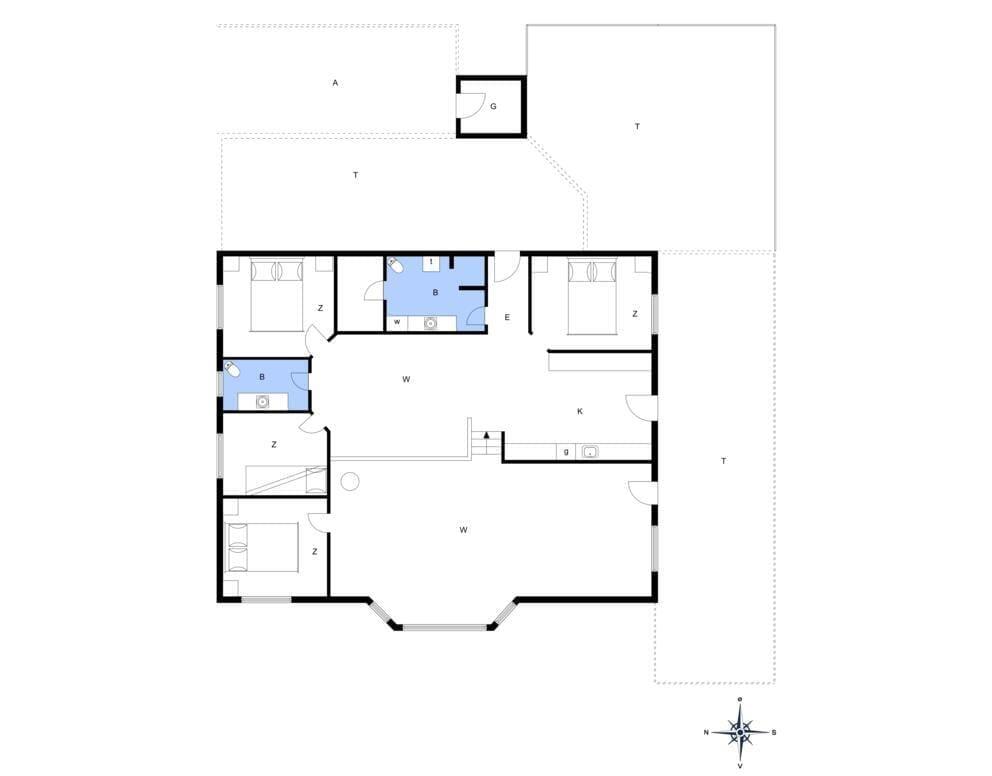 Indretning 1-14 Sommerhus 264, Diget 54, DK - 9480 Løkken