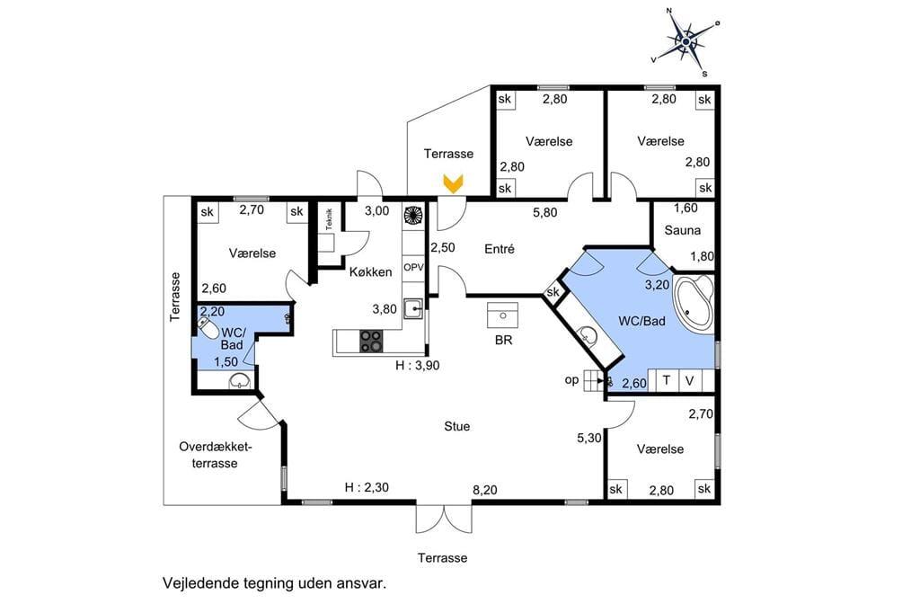 Indretning 1-174 Sommerhus M13021, Tranevej 11, DK - 4873 Væggerløse