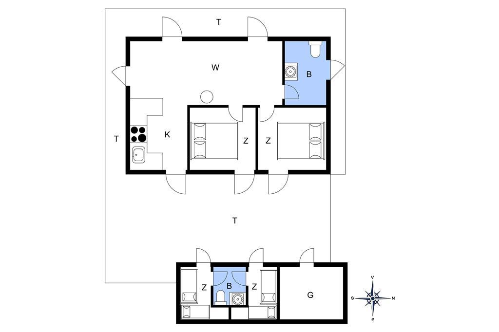 Indretning 1-20 Sommerhus 148, Lucievej 6, DK - 7673 Harboøre