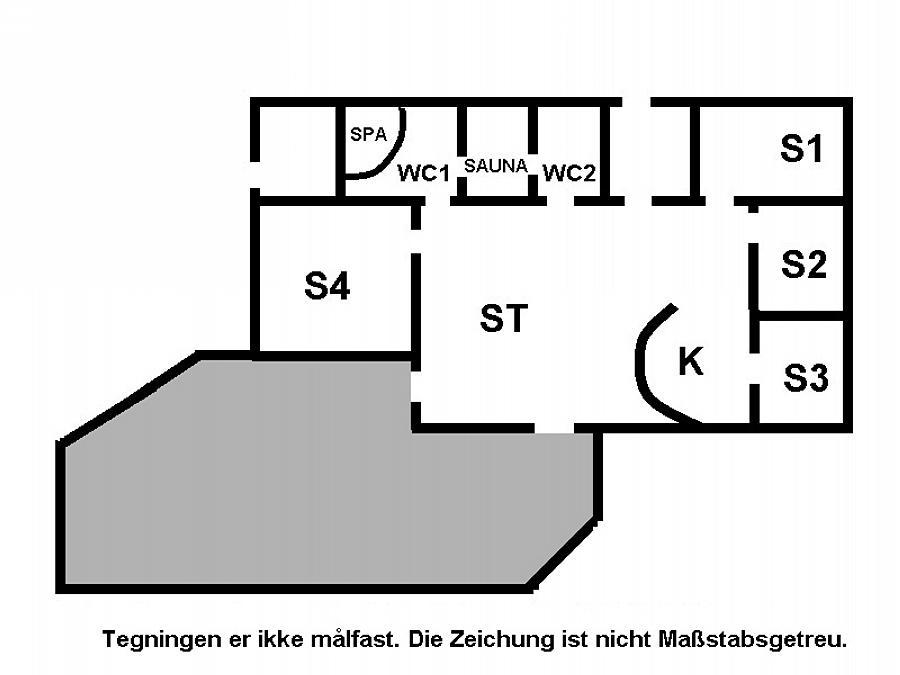 Indretning 1-15 Sommerhus 1312, Kærhøgevej 60, DK - 4780 Stege