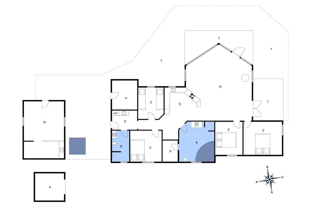 Indretning 1-11 Sommerhus 0195, Småfolksvej 65, DK - 6792 Rømø