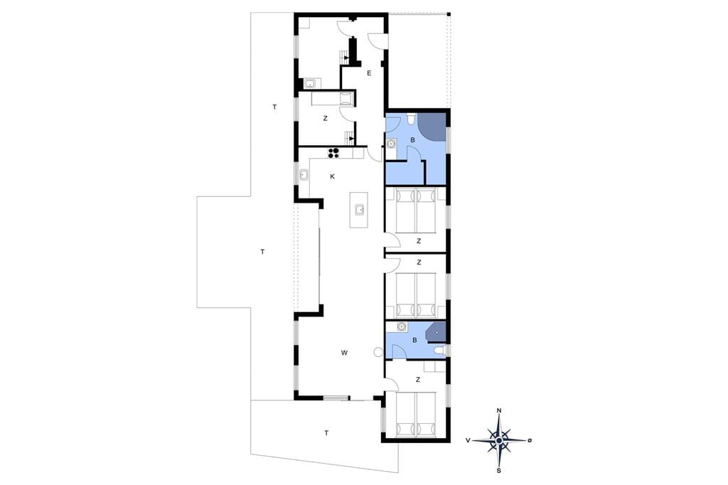 Innenausstattung 1-4 Ferienhaus 429, Tingodden 44, DK - 6960 Hvide Sande