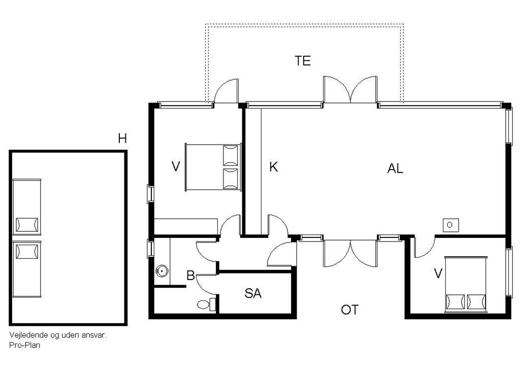 Indretning 1-19 Sommerhus 30802, Stenkalven 66, DK - 8300 Odder