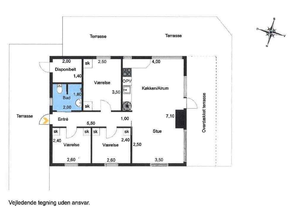 Indretning 1-23 Sommerhus 8206, Skråningen 2, DK - 8420 Knebel