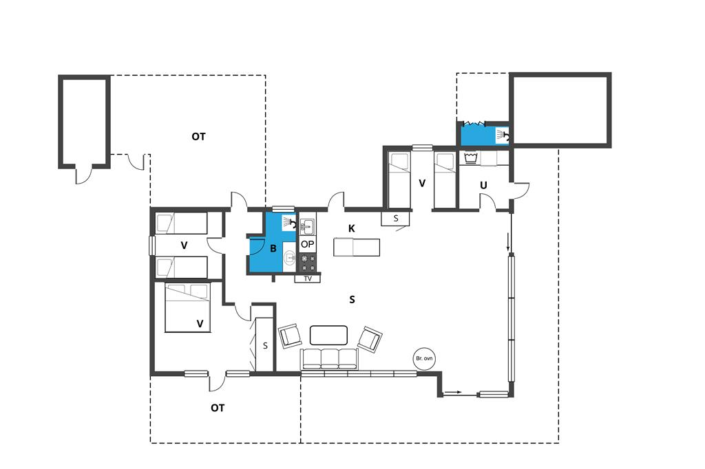 Interieur 1-19 Vakantiehuis 40129, Solvænget 31, DK - 7130 Juelsminde