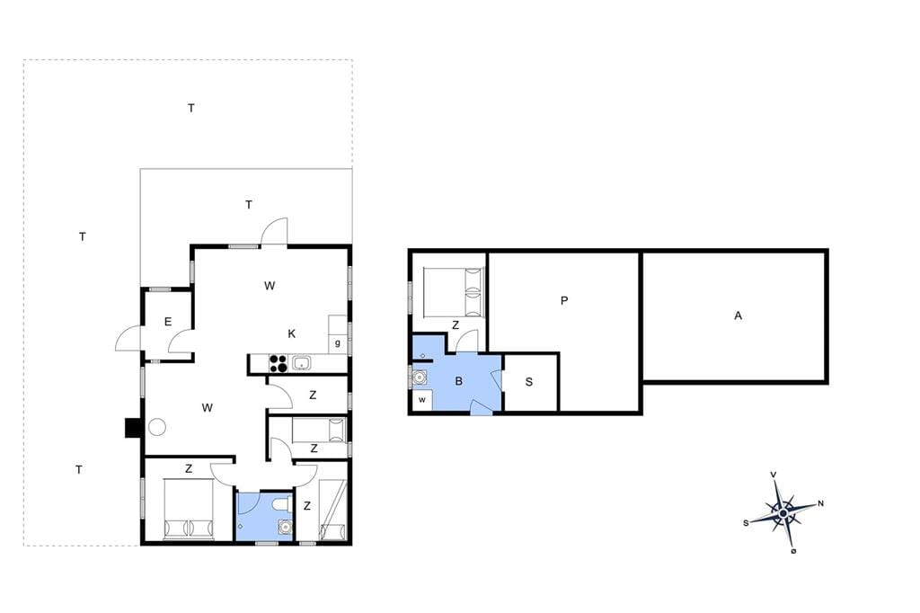 Indretning 1-401 Sommerhus HA112, Boelengen 5, DK - 9370 Hals