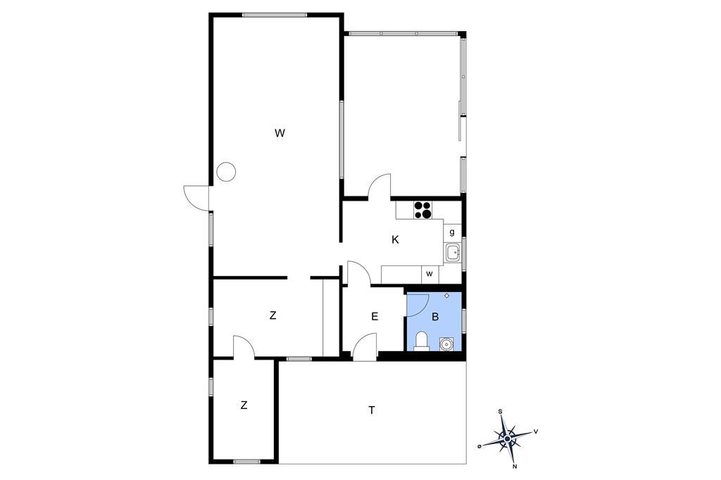 Indretning 1-26 Sommerhus SL235, Papegøjevej 7, DK - 4200 Slagelse
