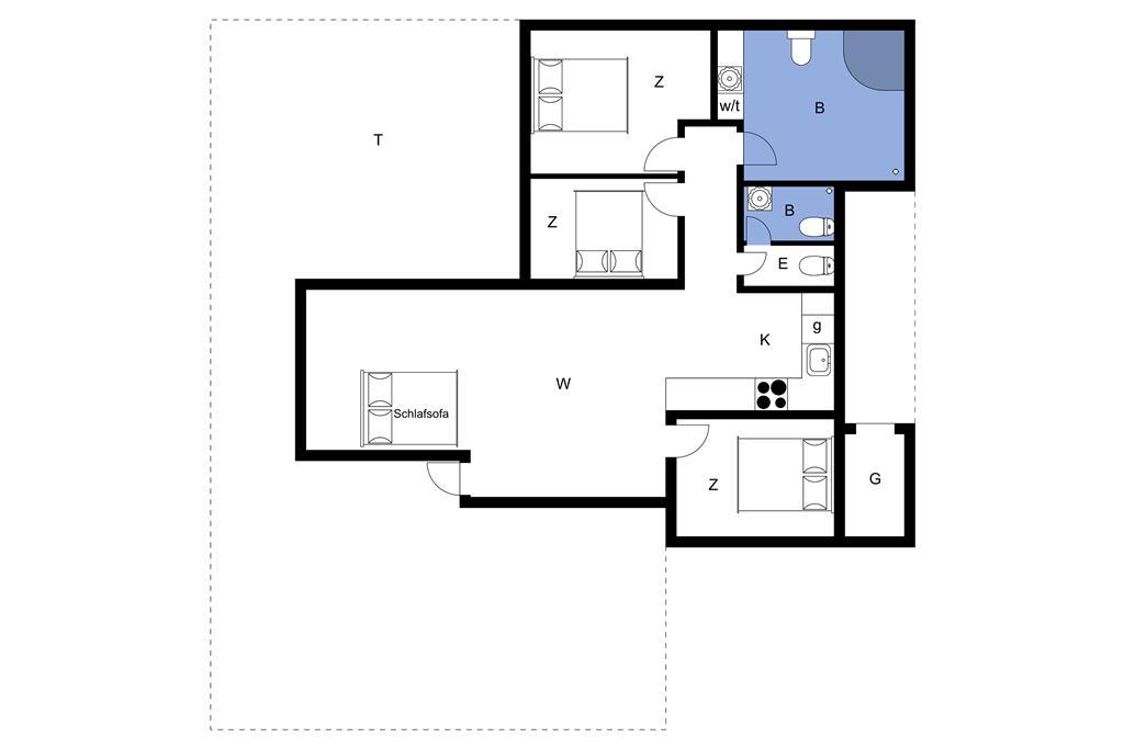 Indretning 1-23 Sommerhus 8410, Bogfinkevej 6, DK - 8400 Ebeltoft