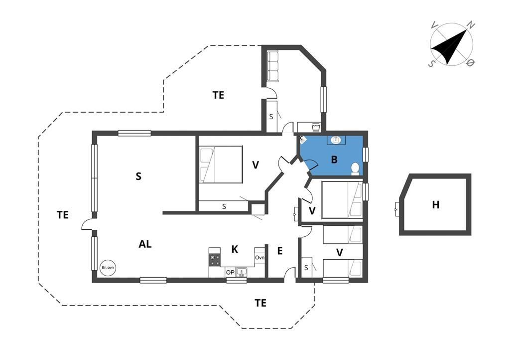 Interieur 1-23 Vakantiehuis 8208, Skæsibakken 2, DK - 8420 Knebel