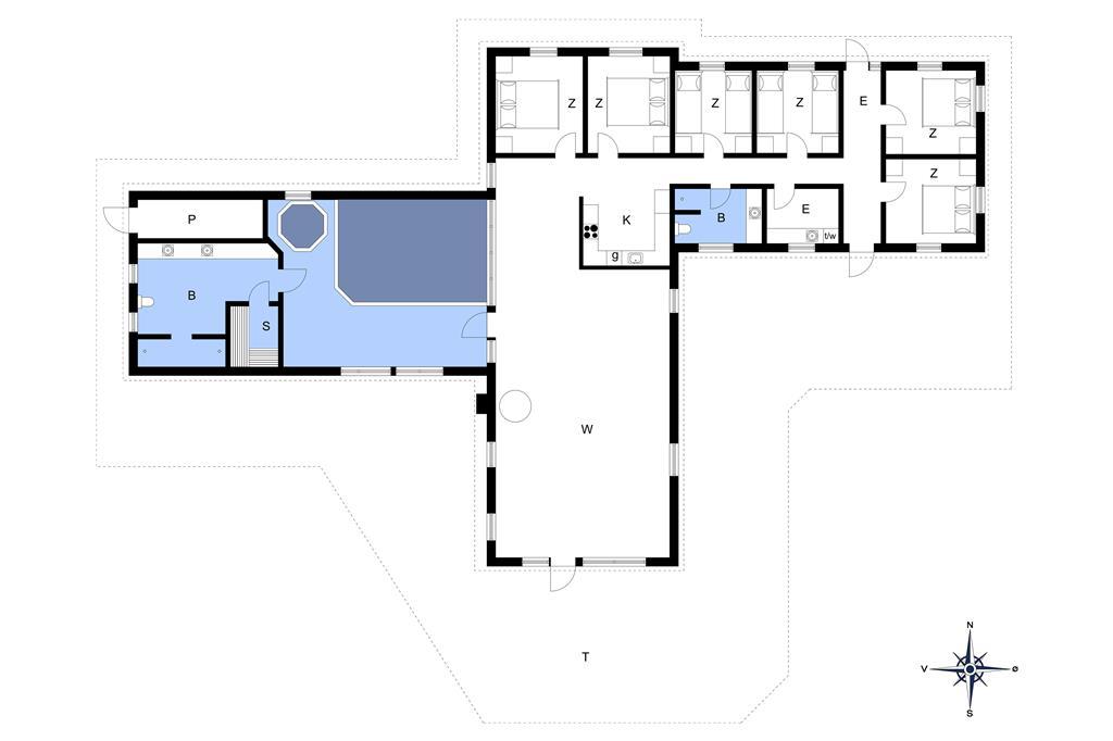 Innenausstattung 1-173 Ferienhaus BV123, Per Knoldsvej 40, DK - 6857 Blåvand