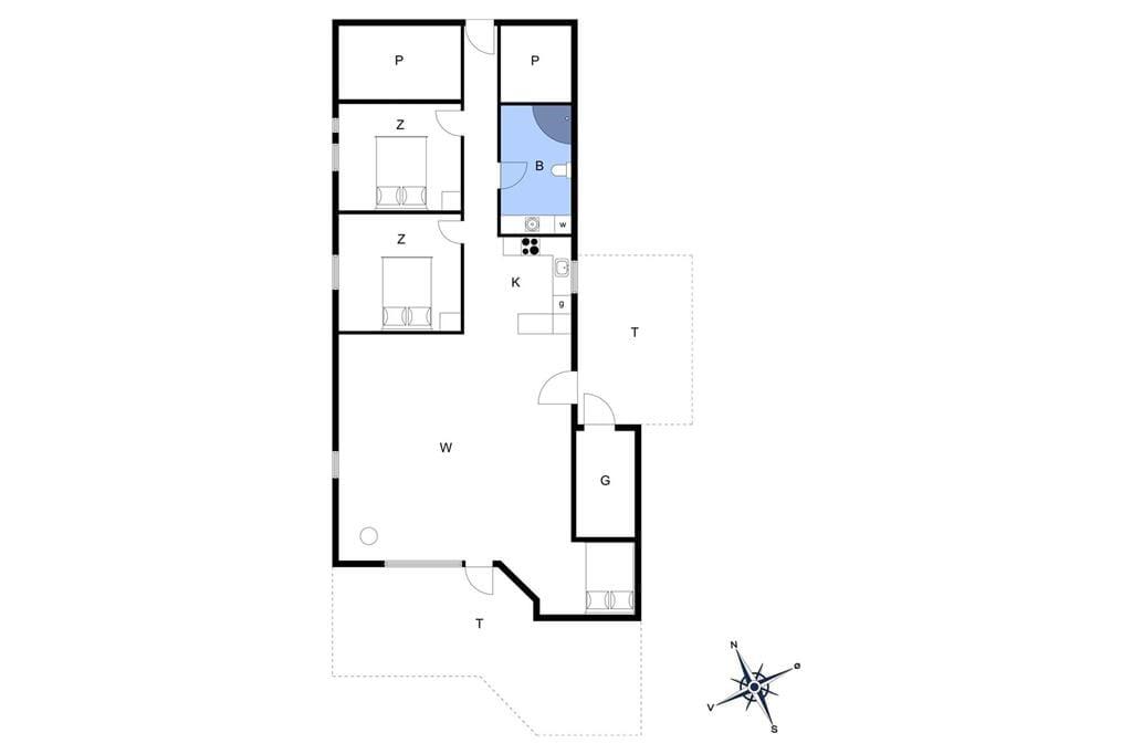 Indretning 1-13 Sommerhus 940, Spanggårdsvej 45, DK - 7700 Thisted