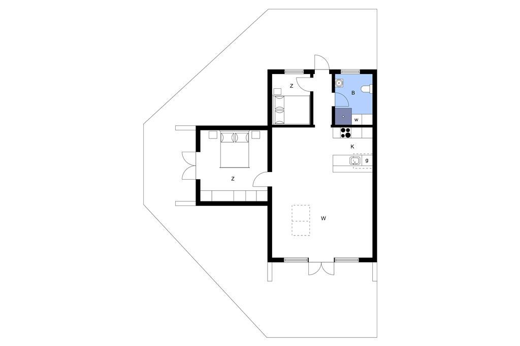 Indretning 1-3 Sommerhus M70233, Hanses Ager 1, DK - 5970 Ærøskøbing