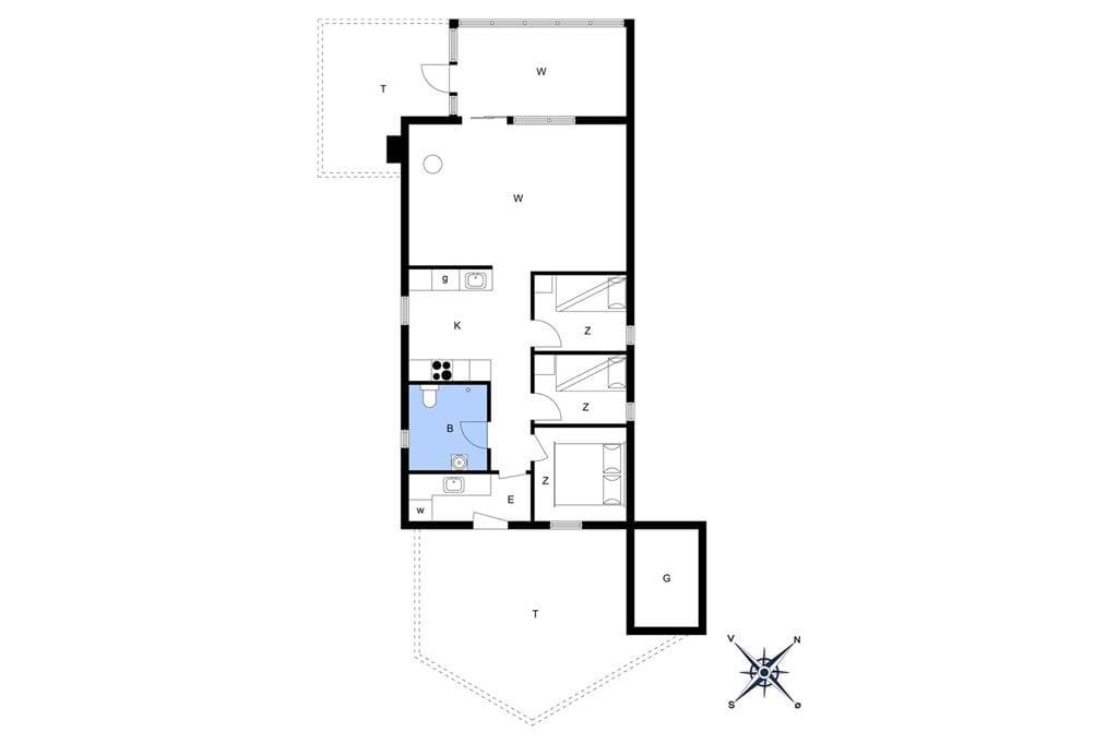 Indretning 1-13 Sommerhus 481, Hannesvej 12, DK - 7770 Vestervig