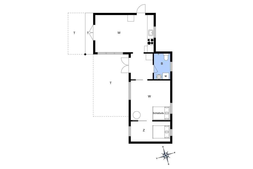Innenausstattung 1-15 Ferienhaus 3001, Rusen 29, DK - 4780 Stege